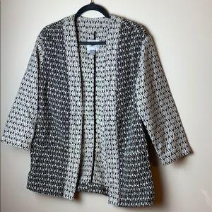 Old Navy Black & White Jacquard Aztec Kimono